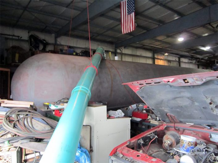 sandblasting inside hull