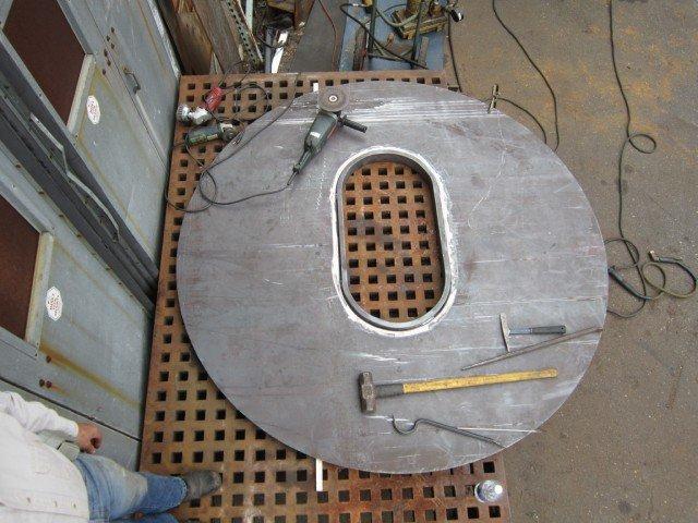 SeaHawk holding bulkhead flange installed