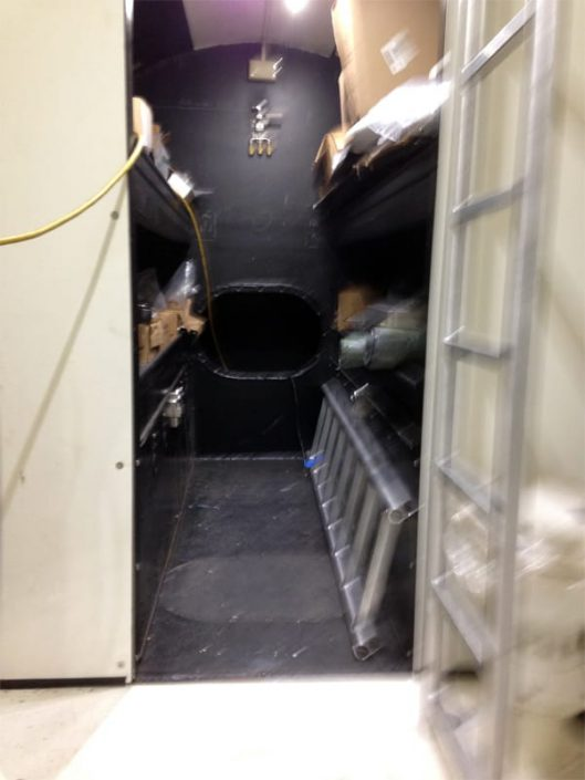 crew compartment view looking forward