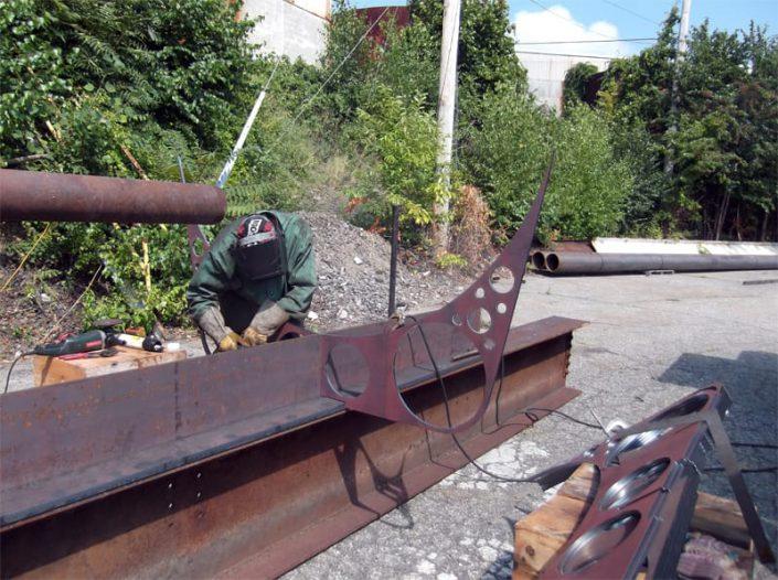 welding brackets to SeaHawk keel