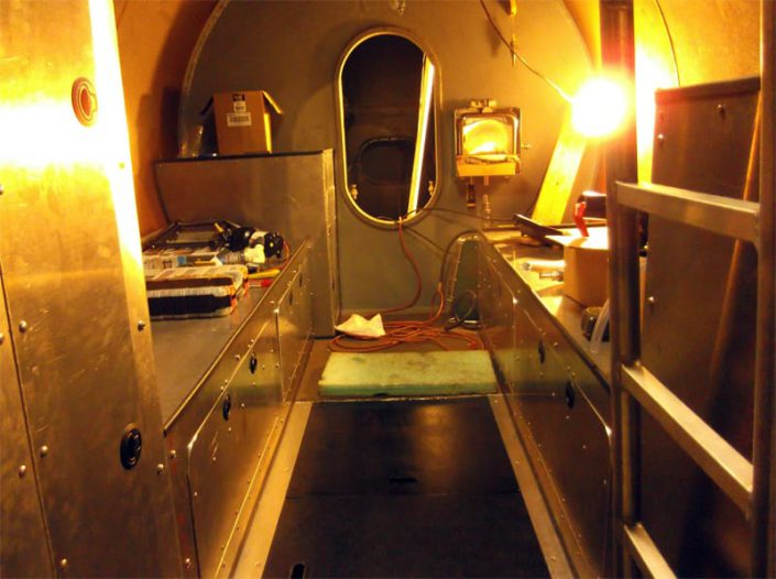 midship compartment shown before painting