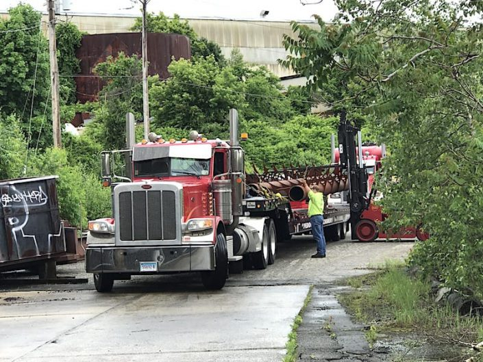 keel assembly loaded on truck in Bridgeport