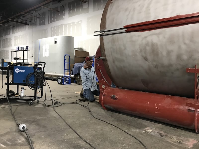 welding hull to keel